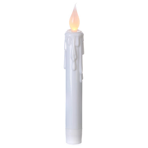 Electric candles with flame effect, battery powered 1
