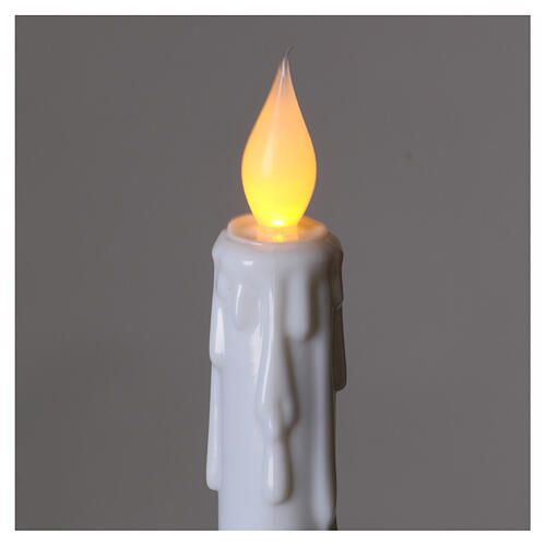 Electric candles with flame effect, battery powered 2