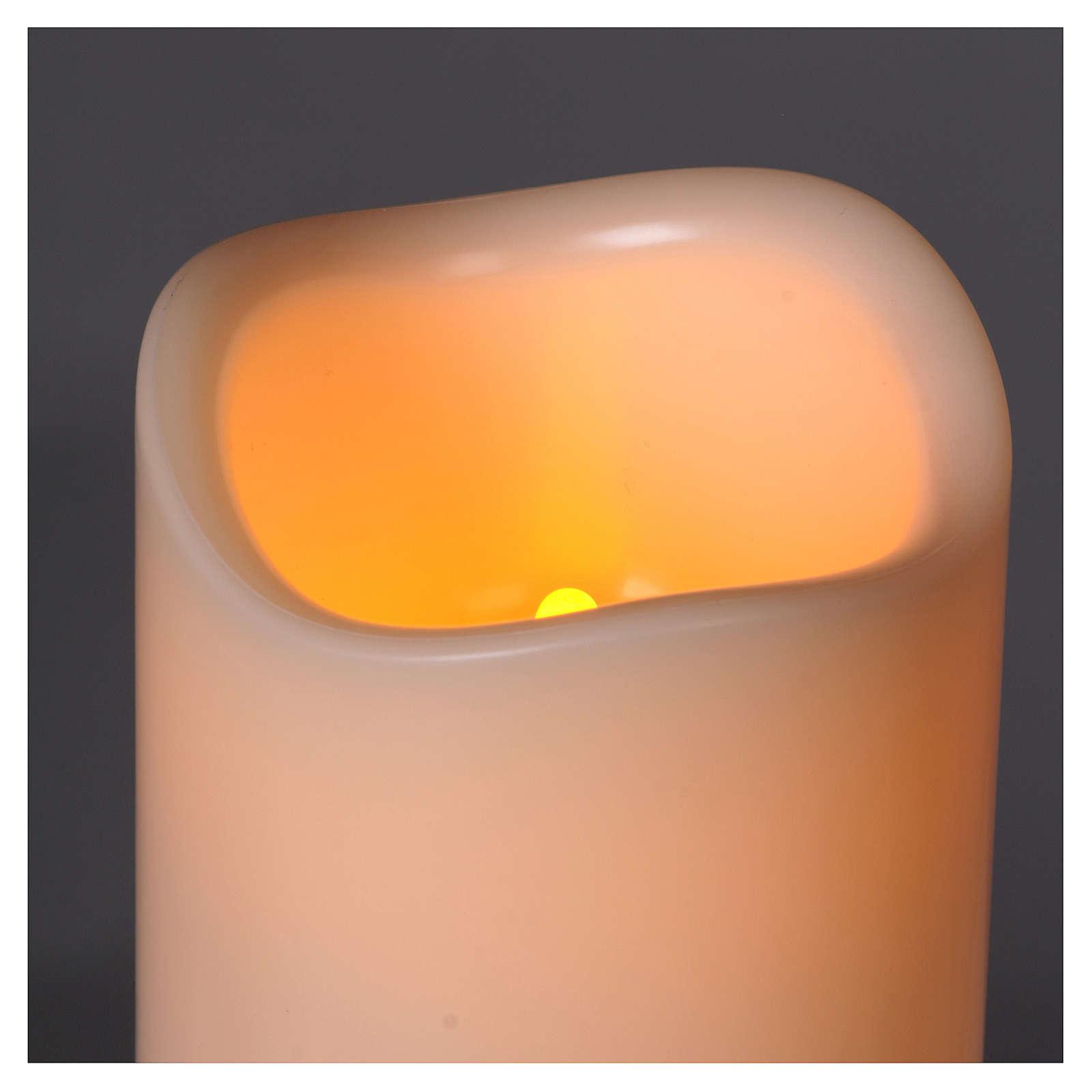 Candela modello moccolo resina led a pila 3
