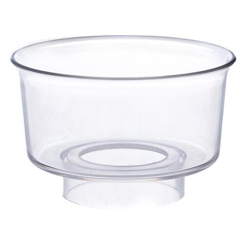 Paravento per candela in vetro diametro 3,2 cm 1