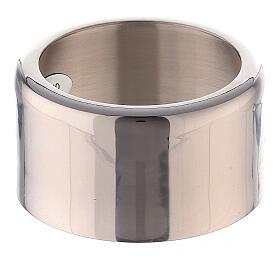 Decoro anello per candela ottone nichelato 3 cm s1
