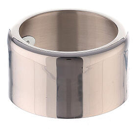 Decorative candle ring of nickel-plated brass 1 1/4 in s1