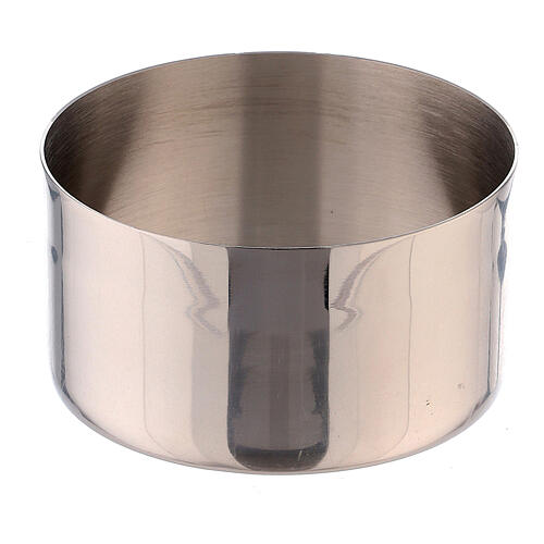 Candle ring of nickel-plated brass 1 1/2 in 2