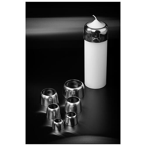 Accessorio anello per candela ottone nichelato 5 cm 3