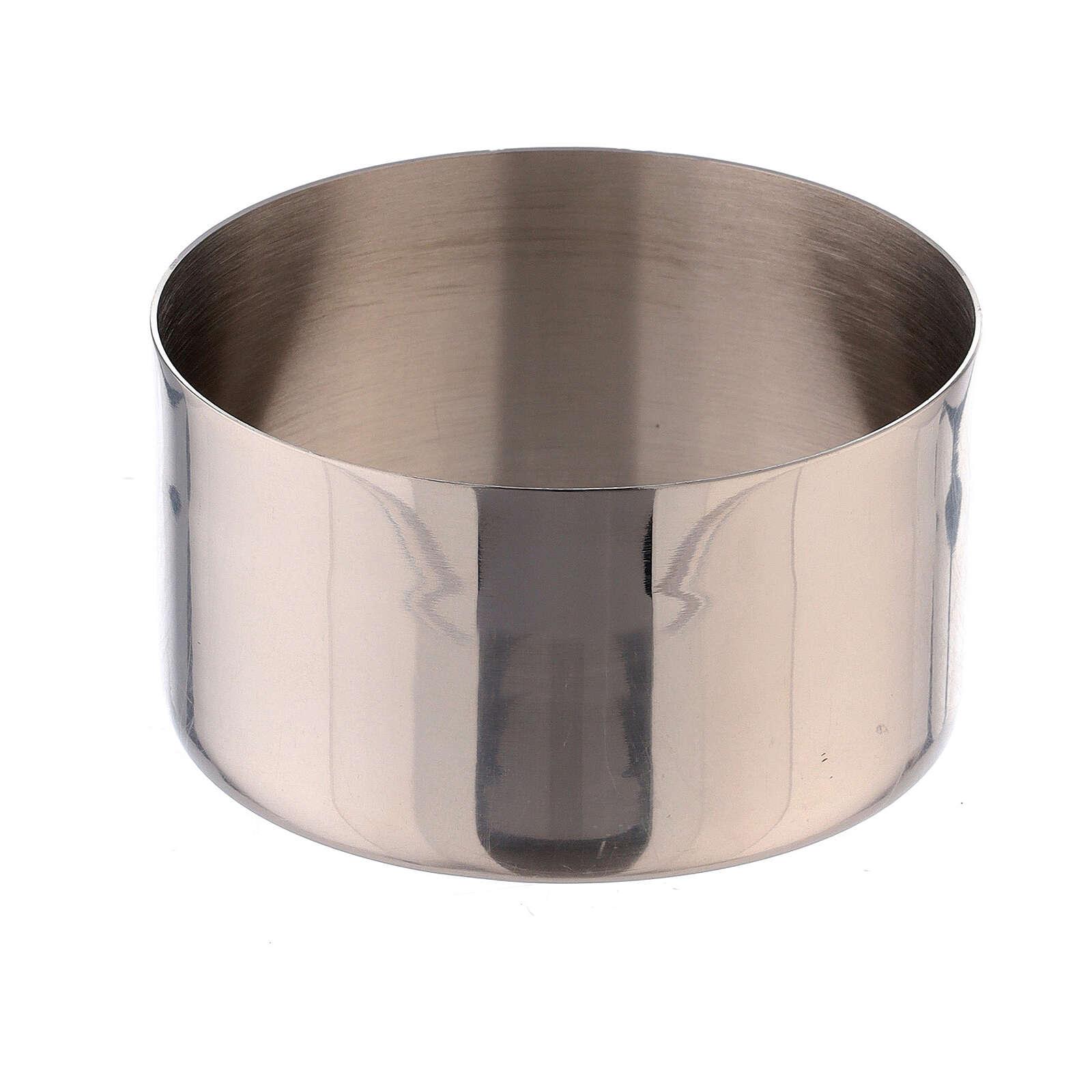 Accessoire bougie bague laiton nickelé 8 cm 4