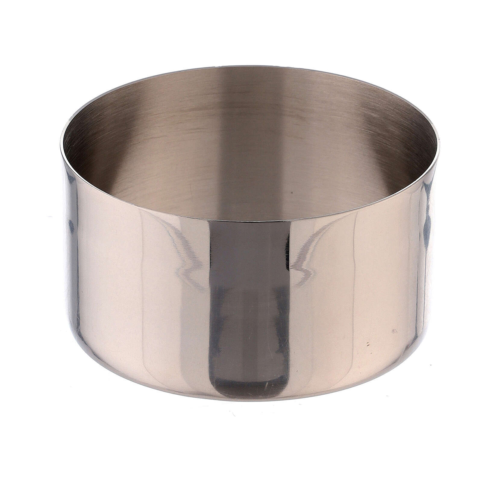 Nickel-plated brass candle accessory 1 1/2 in ring 4