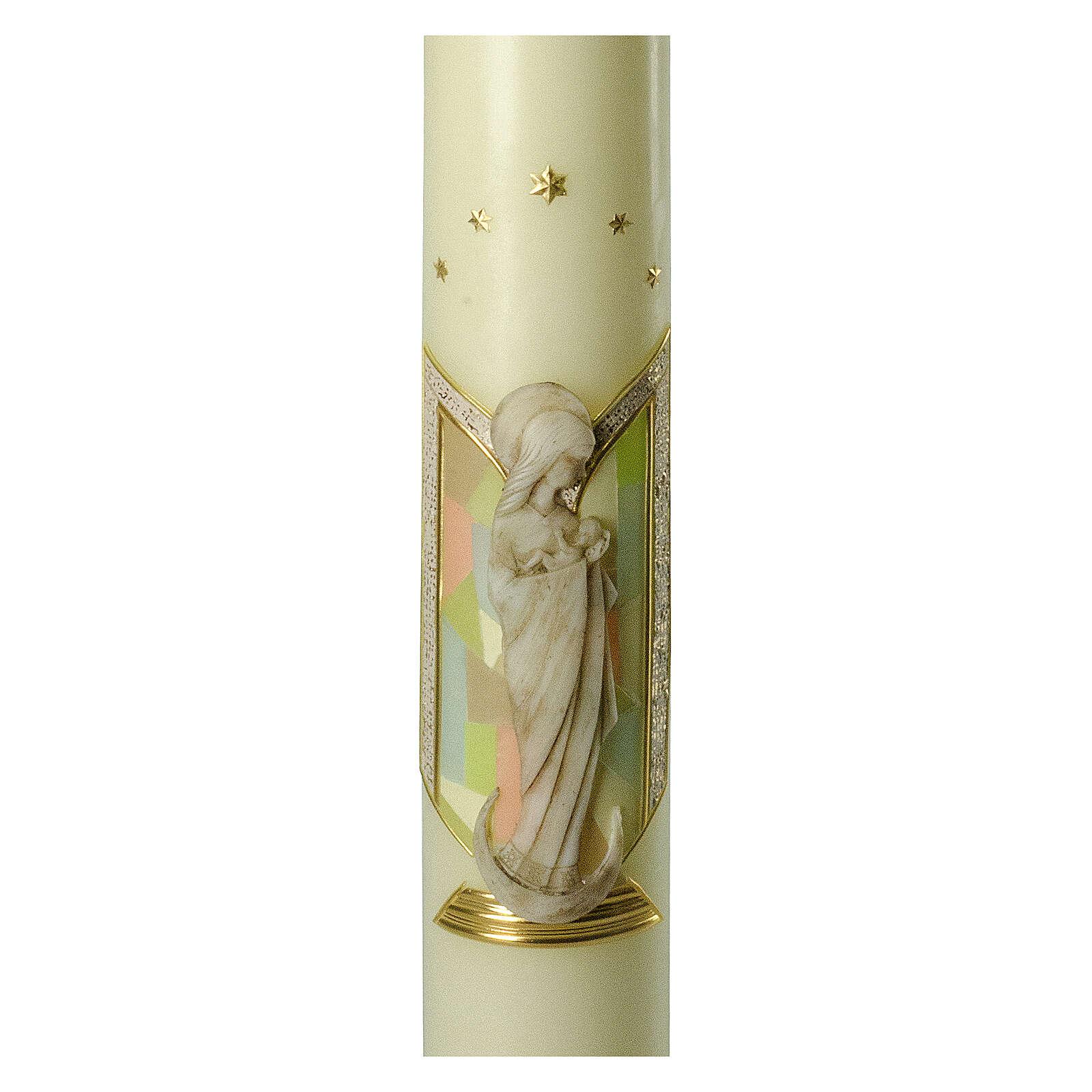 Kerze Maria Relief, 600x80 mm 3