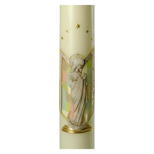 Kerze Maria Relief, 600x80 mm 2