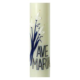 Kerze Ave Maria mit weißen Lilien, 400x60 mm s2