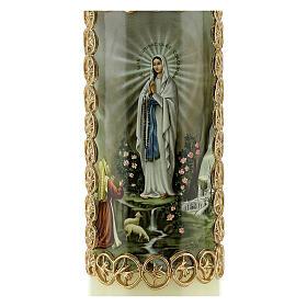 Kerze Unsere Liebe Frau in Lourdes Marienerscheinung, 165x50 mm s2