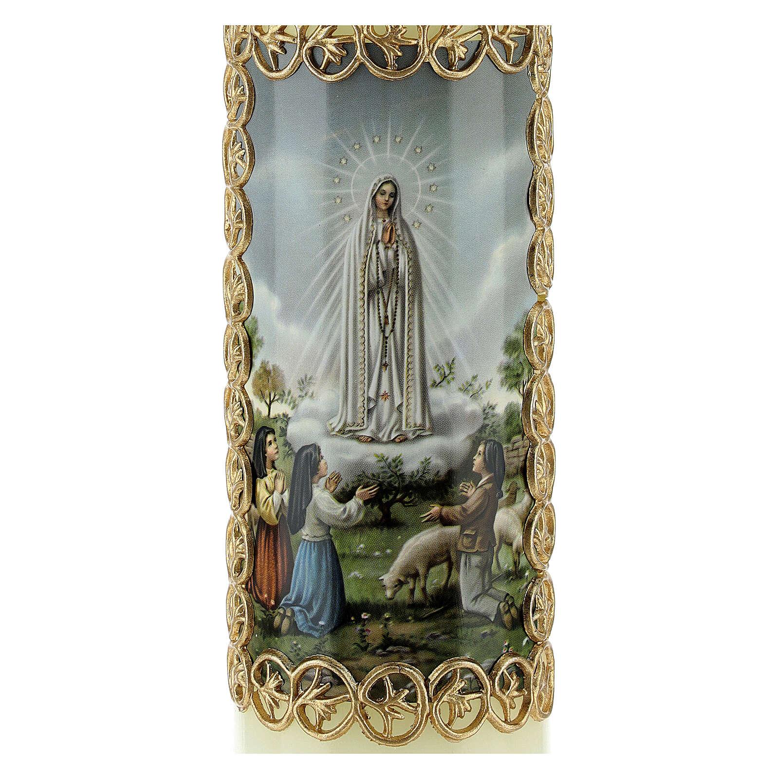 Kerze Unsere Liebe Frau aus Fatima, 165x50 mm 3