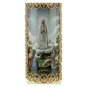 Kerze Unsere Liebe Frau aus Fatima, 165x50 mm s2