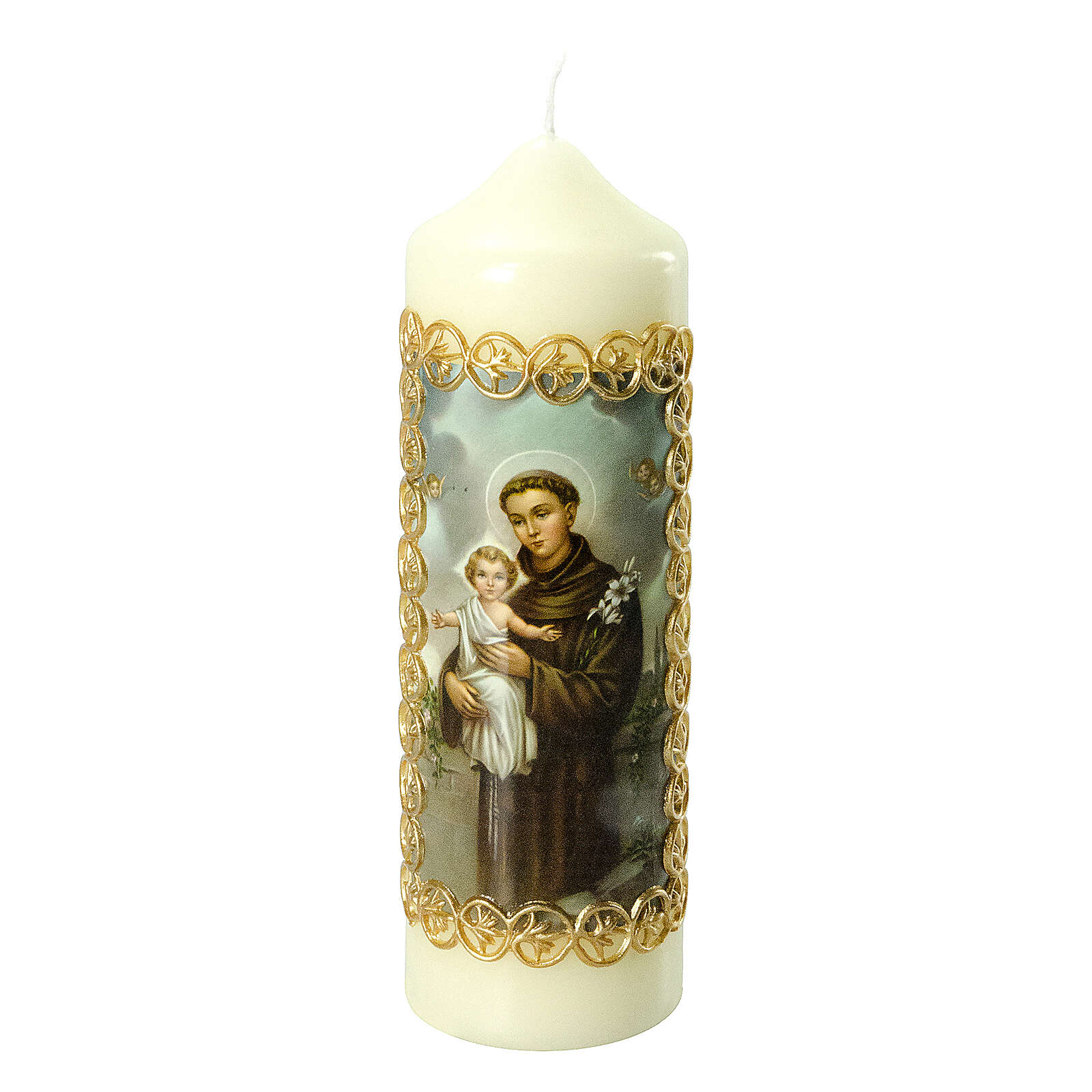Kerze Antonius von Padua mit Jesuskind, 165x50 mm 3