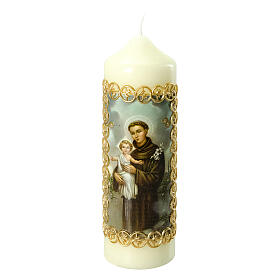 Kerze Antonius von Padua mit Jesuskind, 165x50 mm s1
