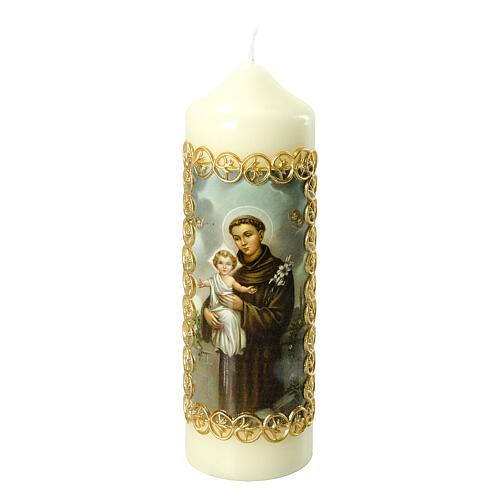 Kerze Antonius von Padua mit Jesuskind, 165x50 mm 1