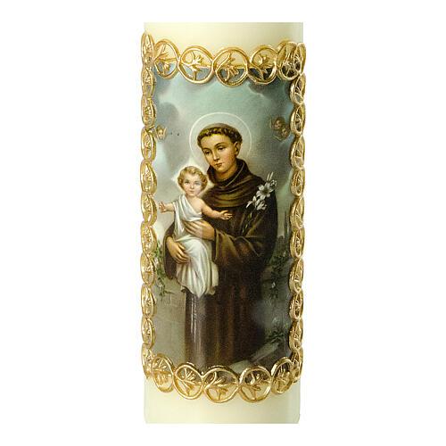 Kerze Antonius von Padua mit Jesuskind, 165x50 mm 2