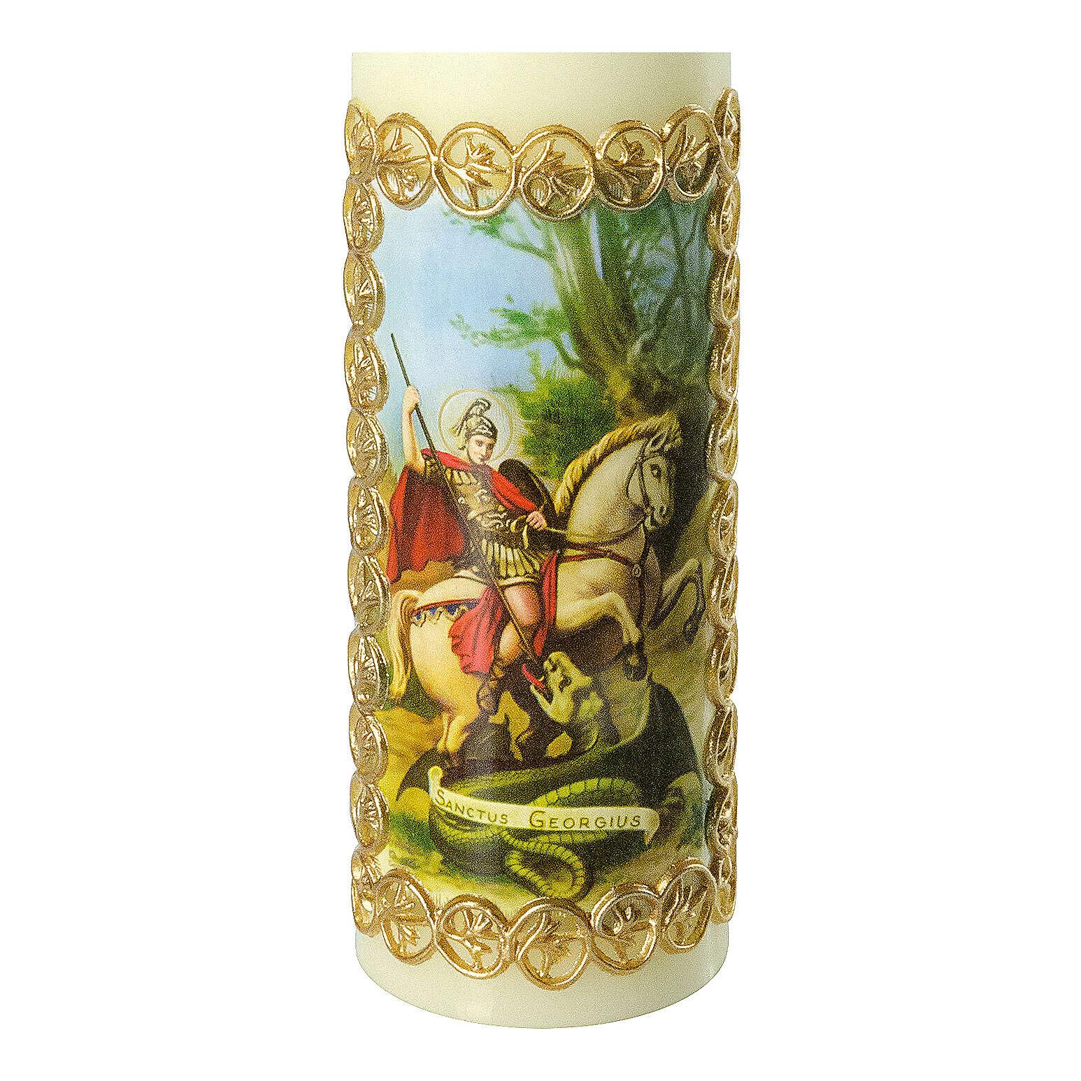Kerze Heiliger Georg Drachen, 165x50 mm 3
