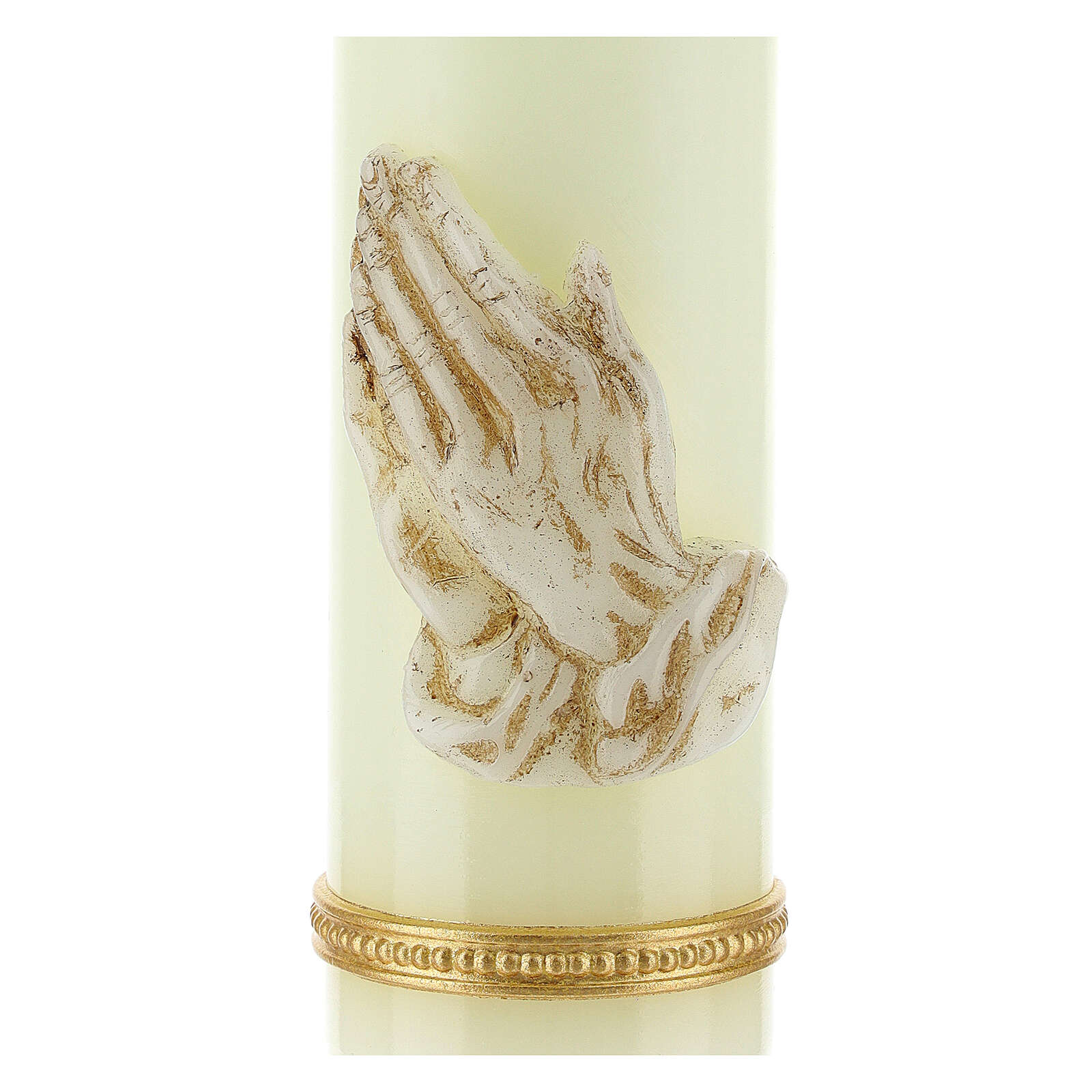 Candle with white praying hands 16.5x5 cm 3