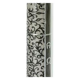 Grabkerze mit schwarzen Details, 220x60 s2