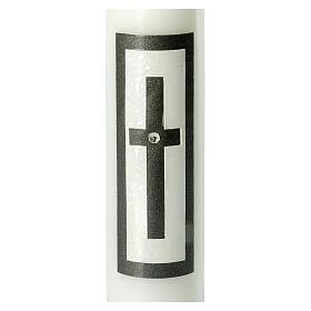 Candela funebre croce latina nera strass 265x60 mm s2