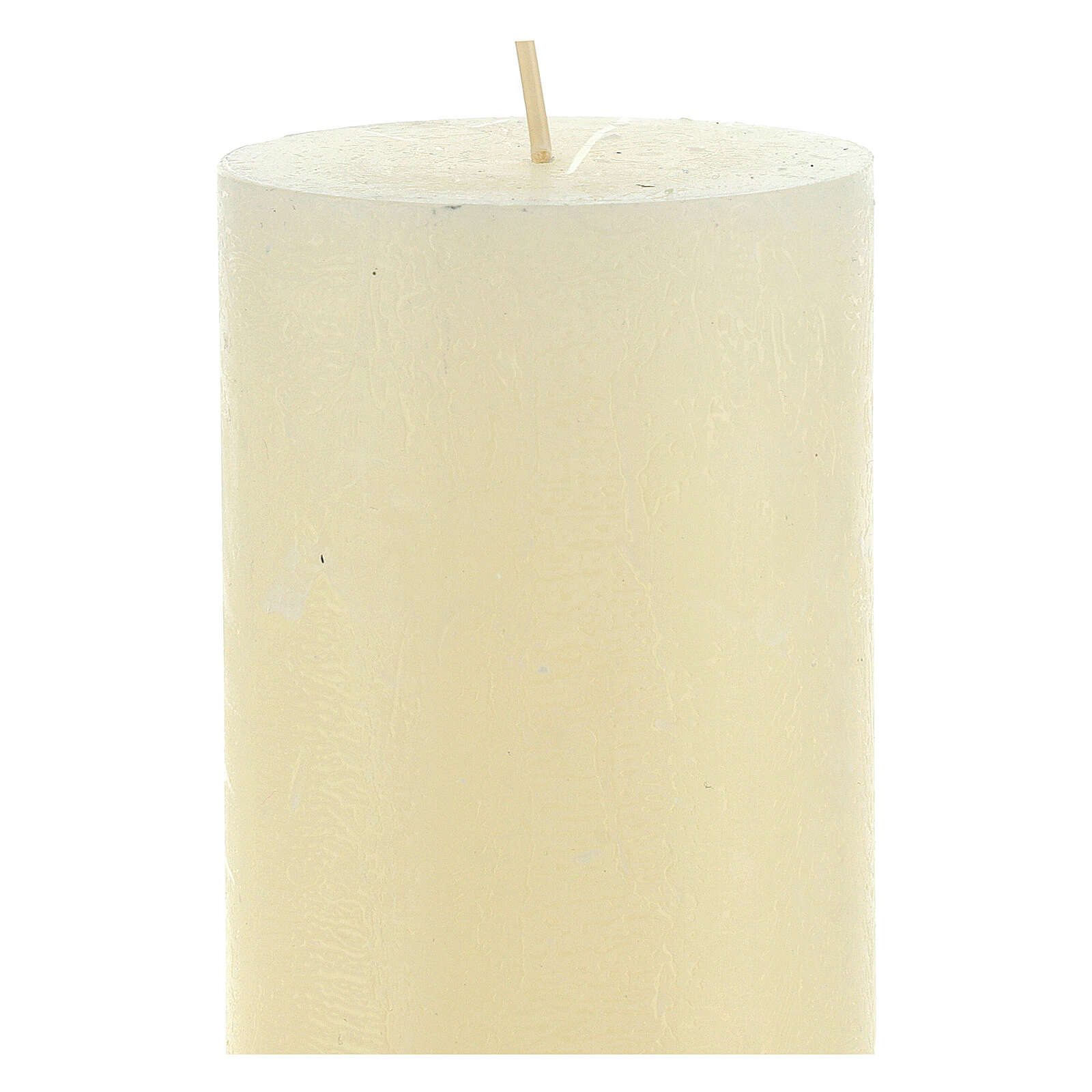Kerzen elfenbeinfarben rustikaler Stil 4 Stück,170x70 mm 3