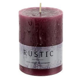 Kerzen rustikaler Stil 24 Stück violett, 80x60 mm s2