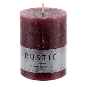 Purple rustic candle, set of 24, 80x60 mm s2