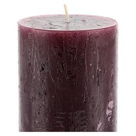 Kerzen rustikaler Stil 12 Stück violett, 140x80 mm s3