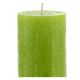 Kerzen rustikaler Stil 4 Stück grün, 170x70 mm s3