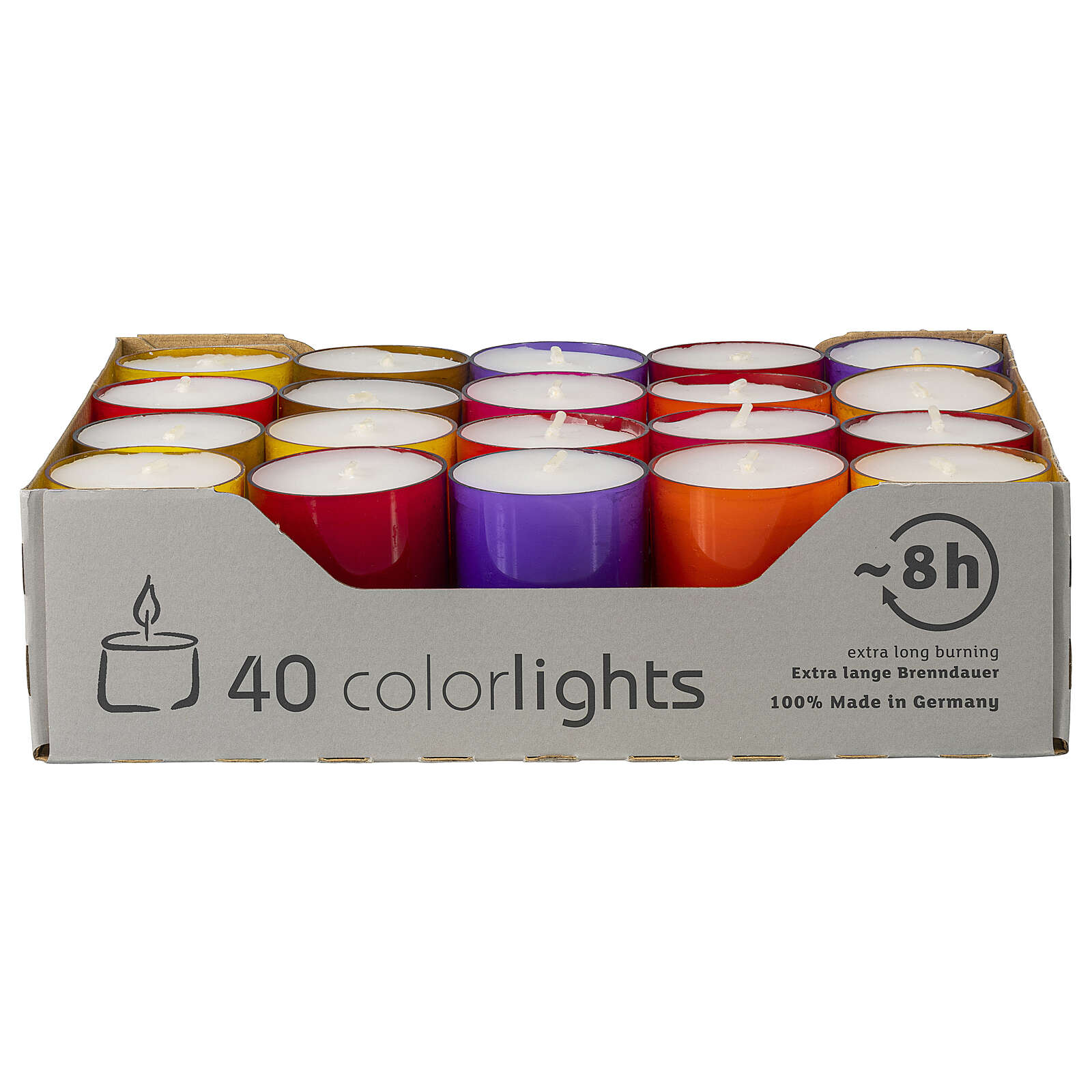 Colourful tealight candles, winter edition, set of 40, 38 mm 3