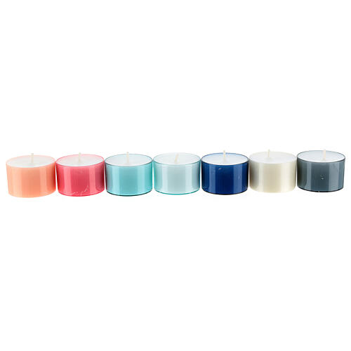 Colourful tealight candles, pastel colours, set of 40, 38 mm 2