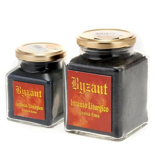 Black styrax incense in glass jar 2
