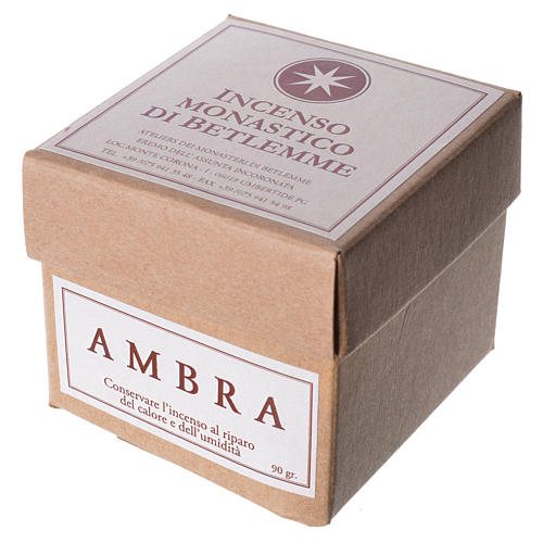 Amber Incense, Bethlehem Monks 90gr 2