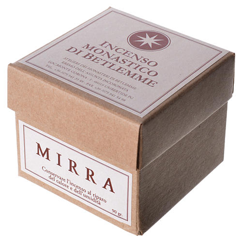 Myrrh Incense, Bethlehem Monks 90gr 2