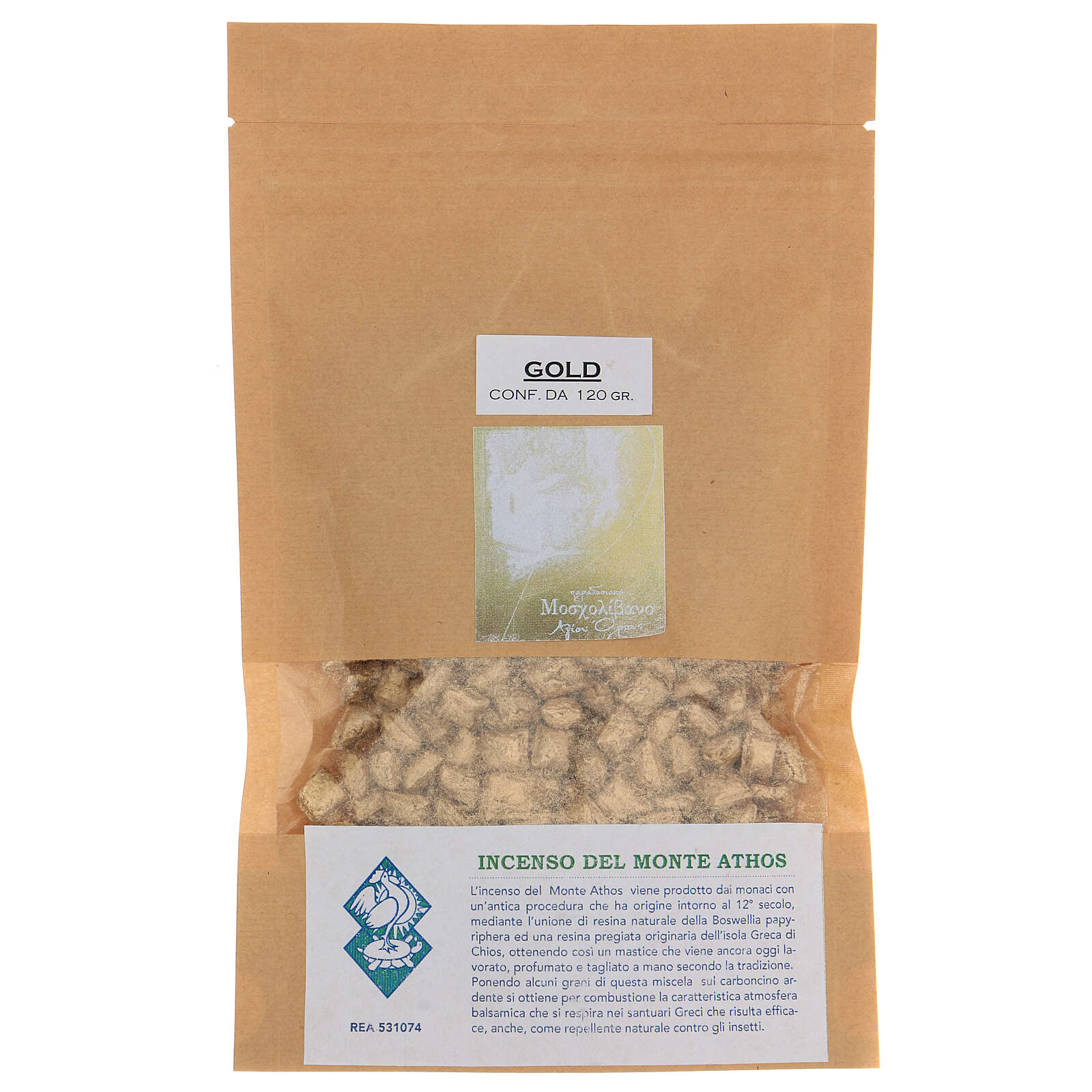 Incienso griego tipo Gold B Monte Athos 120 gr 3