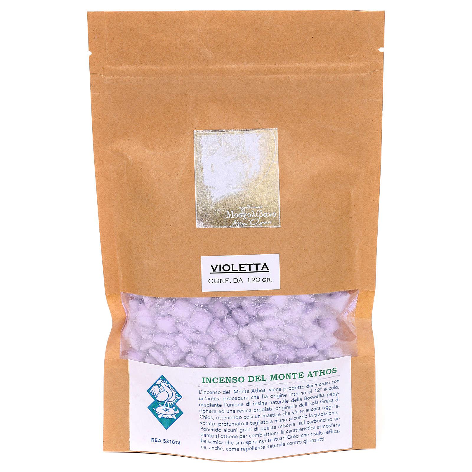 Greek violet perfumed incense Mount Athos 120g 3
