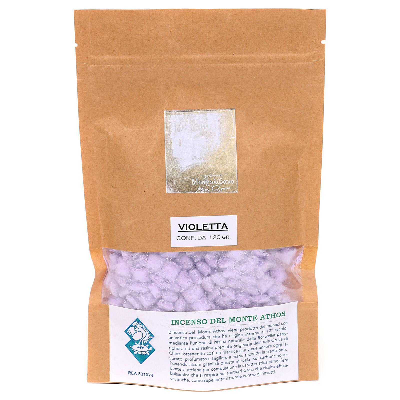 Incienso griego perfumado violeta Monte Athos 120 gr 3