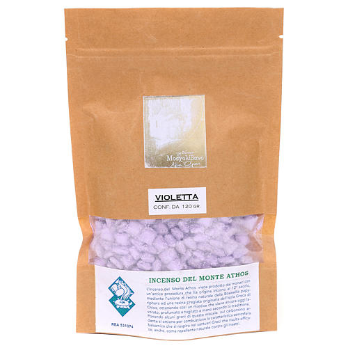 Greek violet perfumed incense Mount Athos 120g 2