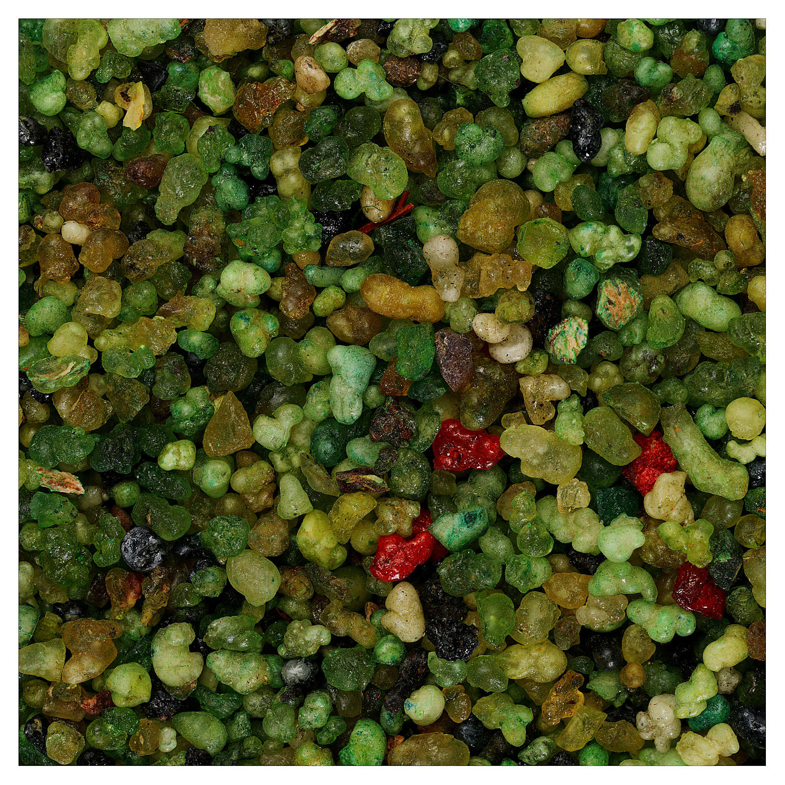 Scented incense 1 kg, small green grains 3