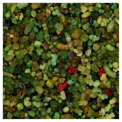 Scented incense 1 kg, small green grains 1