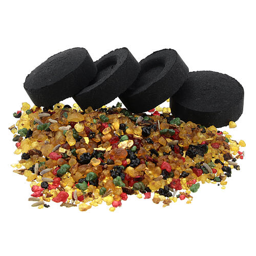 Set 10 charbons et encens variété Vatican 50 g 1