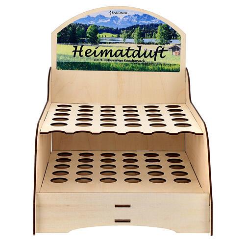 Display-Ständer aus Holz fűr Weihrauch-Rőhrchen, 25 x 30 x 25