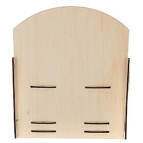Expositor para tubitos incienso madera 25x30x25 s4
