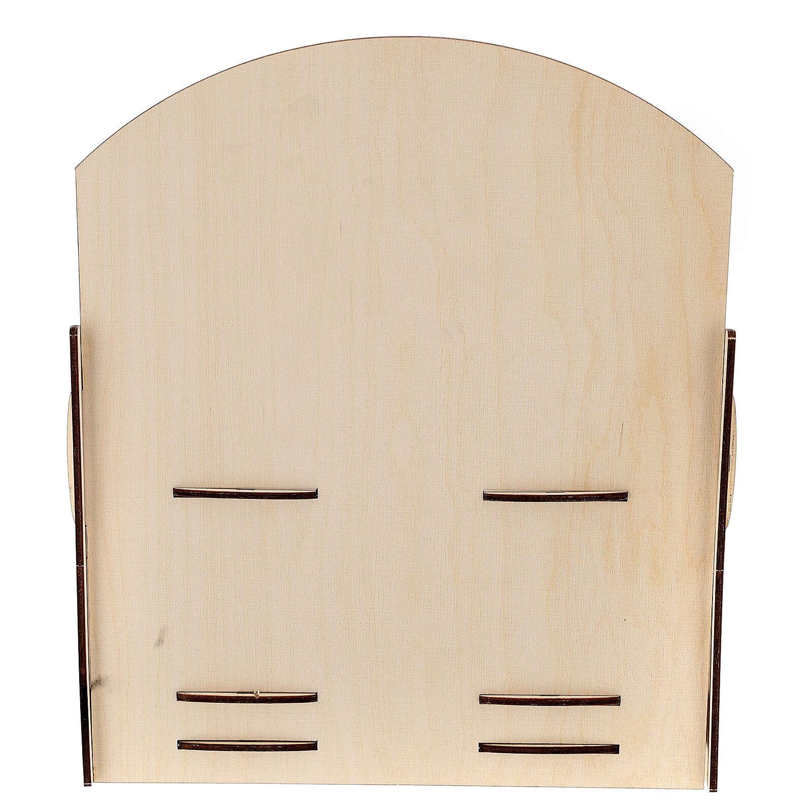 Espositore per tubetti incenso legno 25x30x25 3