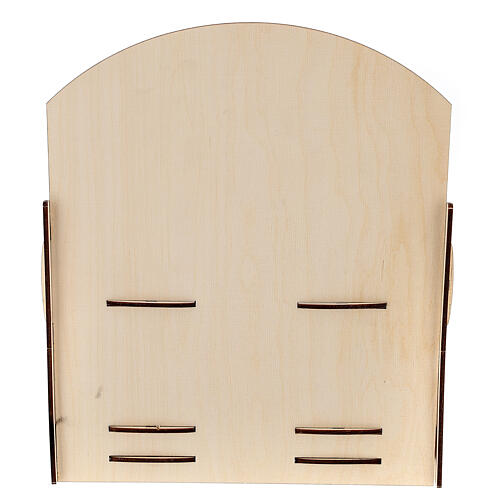 Espositore per tubetti incenso legno 25x30x25 4