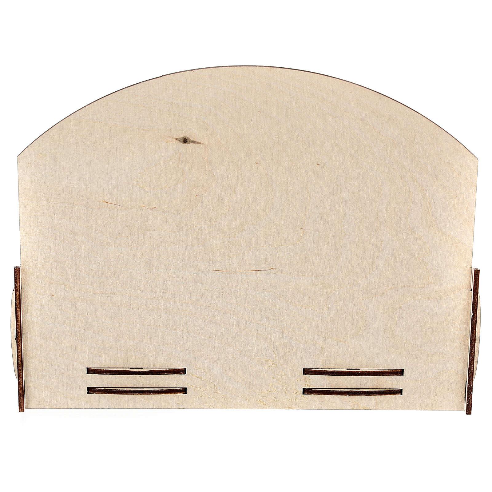 Espositore oli essenziali legno 18x22x23 cm 3