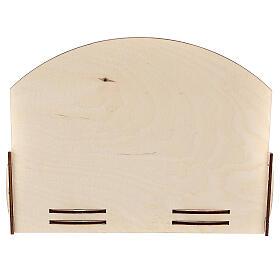 Espositore oli essenziali legno 18x22x23 cm s4