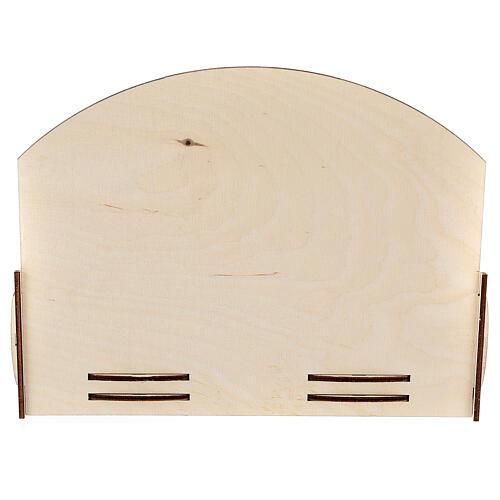 Espositore oli essenziali legno 18x22x23 cm 4
