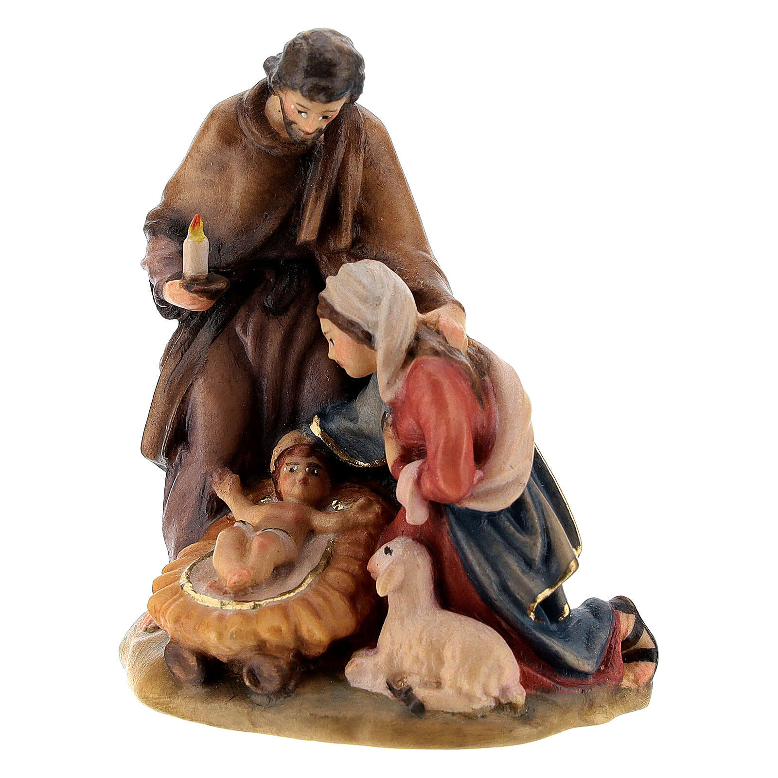 Hand-painted wood nativity set 3