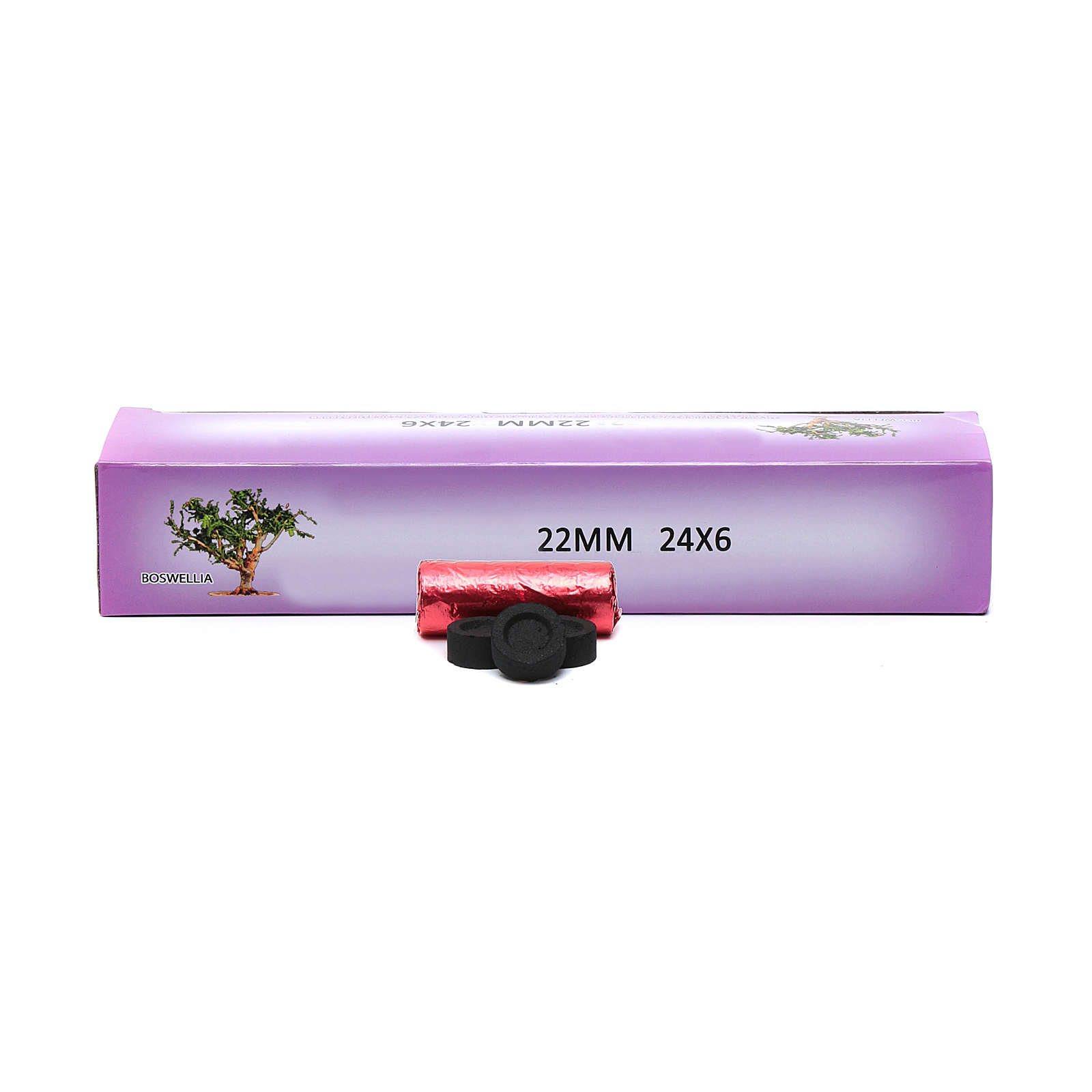 Greek incense charcoals, 22mm -144 tablets.- 40 min 3